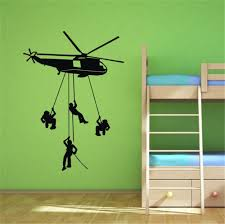 online get cheap helicopter wall stickers aliexpress com vinyl helicopter wall stickers army solider home decoration decal art wallpapers for kids boys bedroom free
