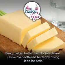 melted butter back to solid form u2013 do you bake