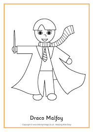 draco harry potter coloring pages pictures pin