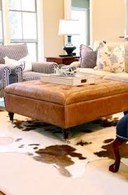 Brown Leather Ottoman Leather Tufted Ottoman Coffee Table Foter