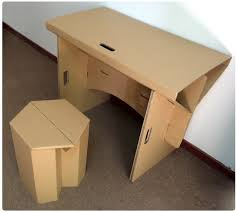 office table and chair set diy cardboard furniture paper table with chair set corrugated