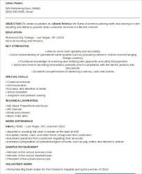 Bank Teller Resume Templates No Experience Sample Bank Teller Resume 7 Examples In Word Pdf