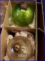 lot of 12 antique kugel glass ornaments