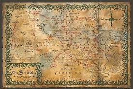 map hobbit the hobbit poster map the shire 36 x24 ca home kitchen