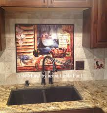 Ceramic Tile Murals For Kitchen Backsplash Louisiana Kitchen Tile Backsplash Cajun Art Tiles