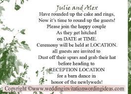 country wedding invitation wording wedding invitation wording