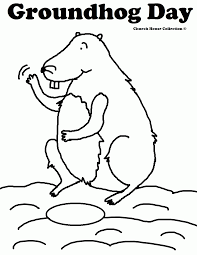 groundhog coloring pages activities coloring