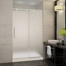 Frosted Glass Pocket Door Bathroom Frosted Shower Stalls U0026 Kits Showers The Home Depot
