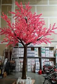 blossom trees artificial pre lit led cherry blossom tree 15 ft 5940 lights