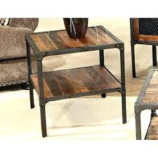distressed wood end table modern distressed furniture modern rustic industrial end table