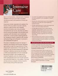 intensive care a concise textbook 3e amazon co uk charles j