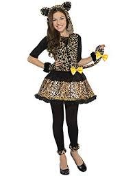 girls teen sassy spots leopard fancy dress costume age 12 14