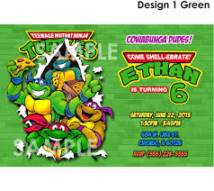 Create Your Own Invitation Card Excellent Ninja Turtle Birthday Party Invitations Theruntime Com
