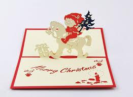 5pcs lot 3d pop up card diy drawing christmas card christmas