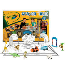 Bored At Home Create Your Own Zoo Amazon Com Wild Planet Crayola Crayon Town Large Mat Zoo Set