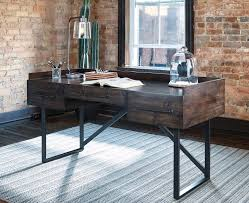 Industrial Office Desks Starling Rustic Industrial Office Collection