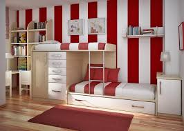 Beds With Bookshelves by Bedroom Mesmerizing Red And White Childrens Room Design With