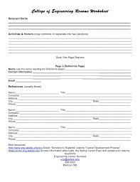 high resume for college format heading resume worksheet template sle resume template chronological