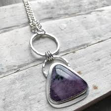 silver purple necklace images Sterling silver tiffany stone necklace handmade by lizardi jewelry jpg