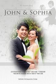 wedding poster template wedding poster 003 photoshop psd template