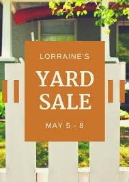 yard sale flyer templates canva