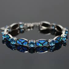 bracelet fire images Blue fire opal bracelet magick jewelry png