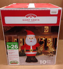 giant 10 u0027 santa claus gemmy christmas airblown inflatable holiday