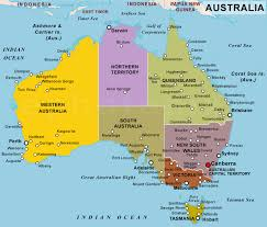 map of australia and oceania countries and capitals political map of australia with capitals major tourist