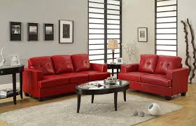 homelegance keaton sofa set red bonded leather match u9747red