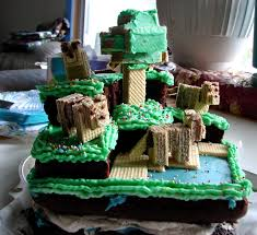 home spun juggling the minecraft cake