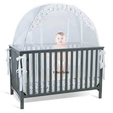 Baby Crib Bed Baby Crib Tent Safety Net Pop Up Canopy Cover Never