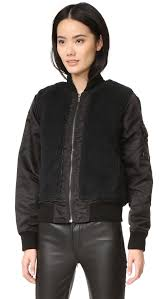 mother aviator sherpa jacket shopbop