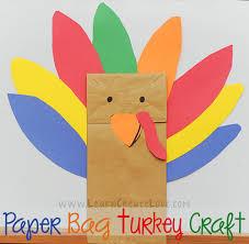 paper bag turkey craft template ye craft ideas