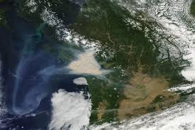 Canada Wildfire Satellite by Incredible Images Of Fires Raging Across Western Canada