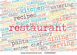 word cloud words related gastronomy cooking stock vector 548688967