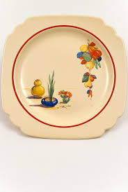 homer laughlin vintage conchita decalware homer laughlin pottery luncheon plate