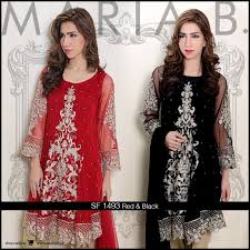 Red And Black Party Dresses Maria B Red And Black Dress Party Wear Dress 2016 Pakistani