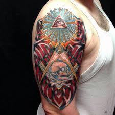 14 masonic half sleeve tattoos