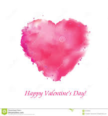 postcard valentine u0027s day with a red heart watercolor draw a
