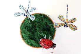 handmade wire beaded dragonfly garden d cor for africa