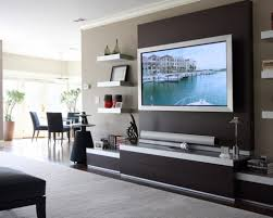 Simple Tv Set Furniture Living Room Purple Painting Wall Simple Tv Stand Media Shelf