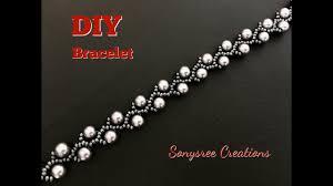 pearl vine bracelet diy super easy tutorial youtube
