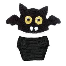 Boy Cat Halloween Costume 2017 Newborn Knit Bat Costume Handmade Crochet Baby Boy Bat