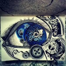 mechanic tattoo drawing drawn eyeball steampunk pencil and in color drawn eyeball steampunk