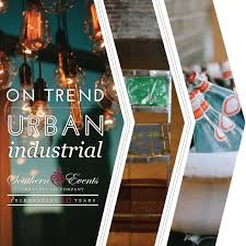 on trend urban industrial southern events party rental company
