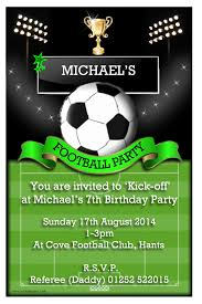 football soccer birthday party invitation for boys momecard
