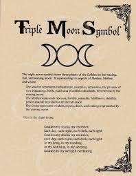 book of shadows page moon symbol goddess chant picclick