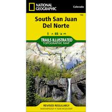 Colorado National Forest Map by 142 South San Juan Del Norte Trail Map National Geographic Store