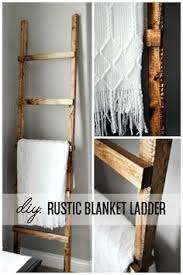 Diy Ladder Shelf Shelves Tutorials by Farmhouse Shelf Ladder With Wire Baskets Diy Home Decor