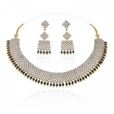 necklace set blue stone images Buy heena classic collection blue stone necklace set online jpg